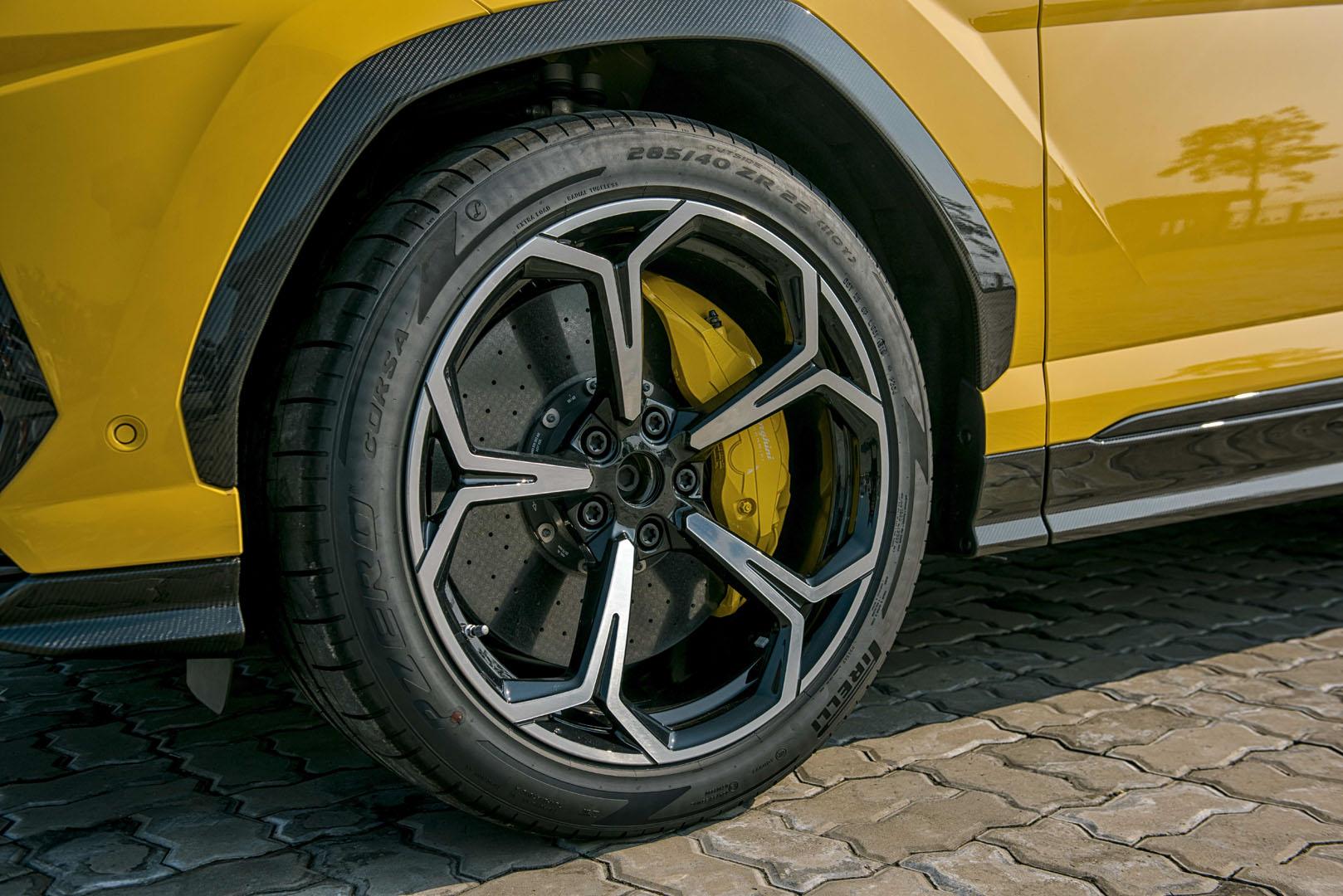 Bộ mâm của xe Lamborghini Urus