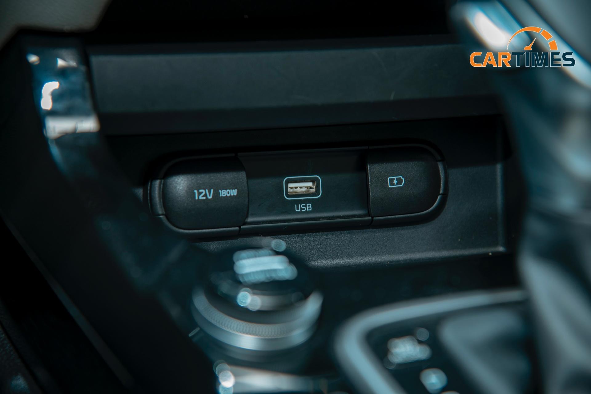 Cổng sạc USB trên Kia Seltos