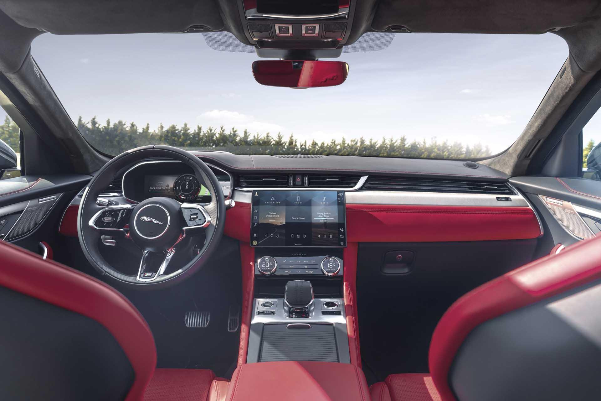 Hàng ghế xe Jaguar F-Pace thế hệ mới